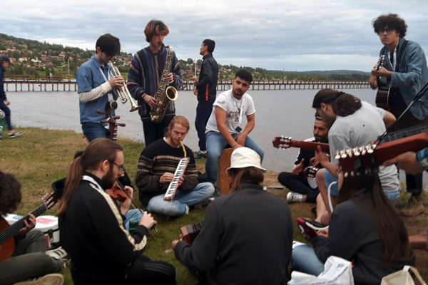 Musicians rehearse at Ethno Sweden