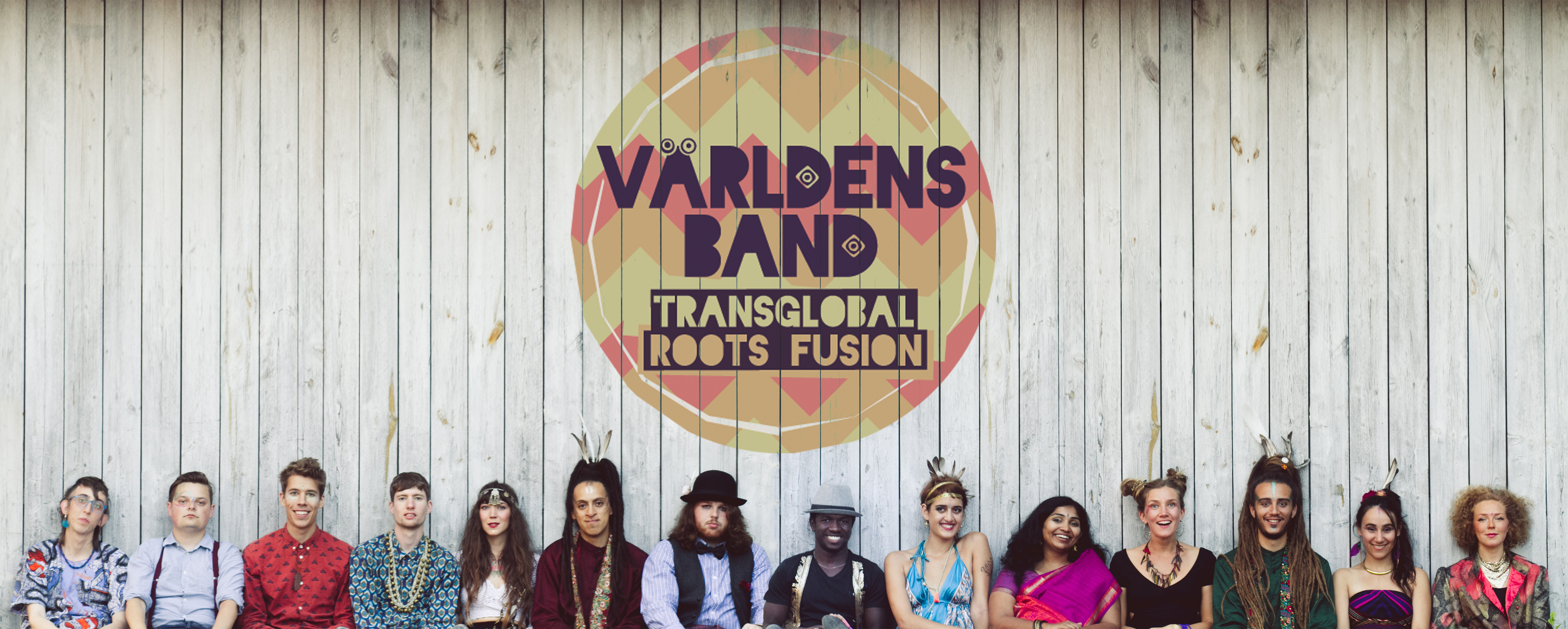 Varldens Band logo and members